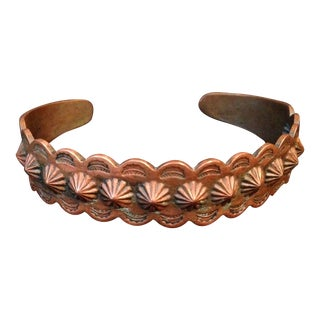 Vintage Navajo Style Copper Cuff Bracelet