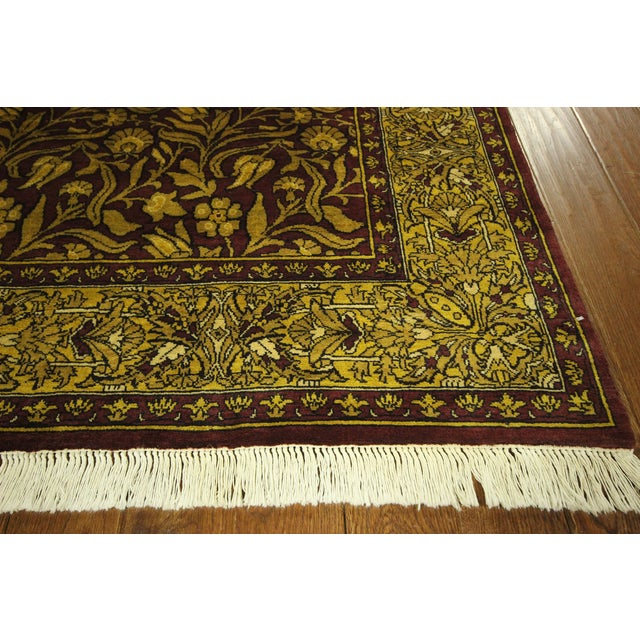 "Suzani Collection Oushak Floral Rug - 6'2"" x 8'10"" - Image 4 of 10"
