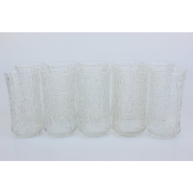 Artica Abstract Geometric Textured Glass Tumblers - Set of 10 - Image 2 of 5