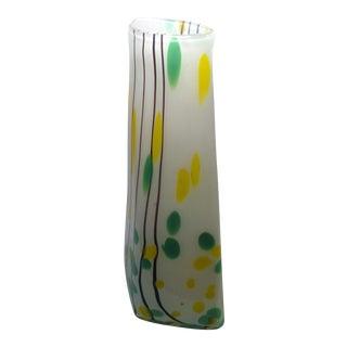 Funky Fused Glass Vase