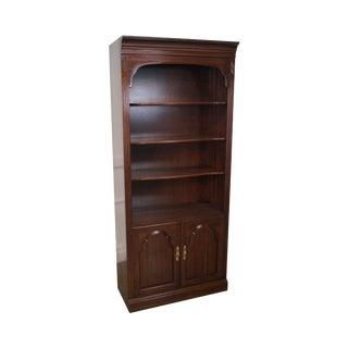 Ethan Allen Georgian Court Open Bookcase Cabinet