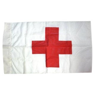Vintage Red Cross Flag Red Cross Wall Hanging