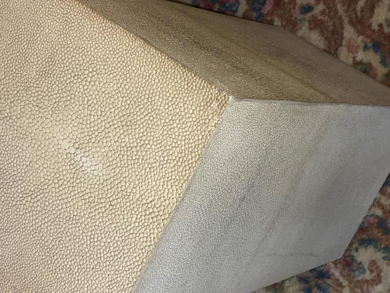 Palatial Karl Springer Style Linen Wrapped Coffee Table   Image 3 Of 7