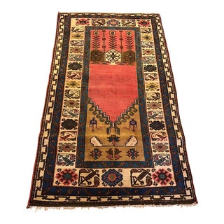 Semi-Antique Old Konya Anatolian Rug - 3'6'' x 6'2''
