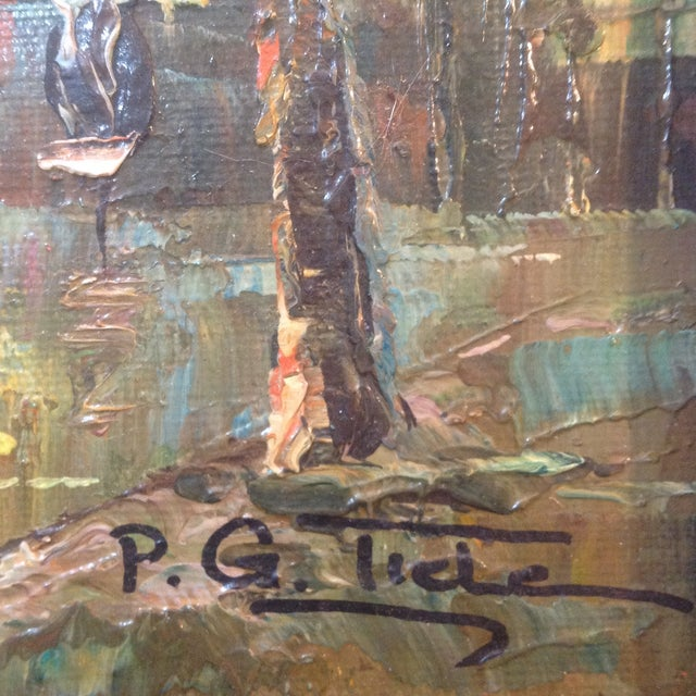 Image of Cityscape by P.G. Tiele Oil on Board