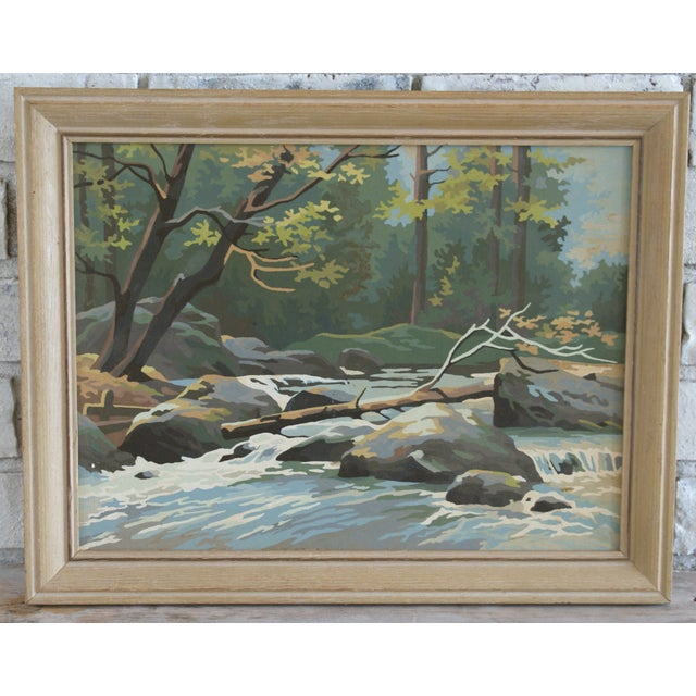 Vintage Paint by Number Woodland Scene - Image 2 of 5