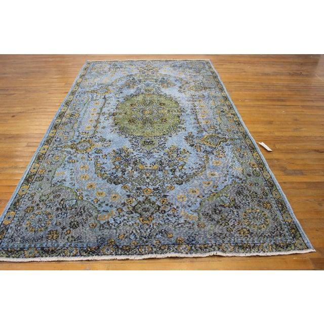 """Image of Vintage Anatolian Blue Rug - 5'5"""" x 9'3"""""""