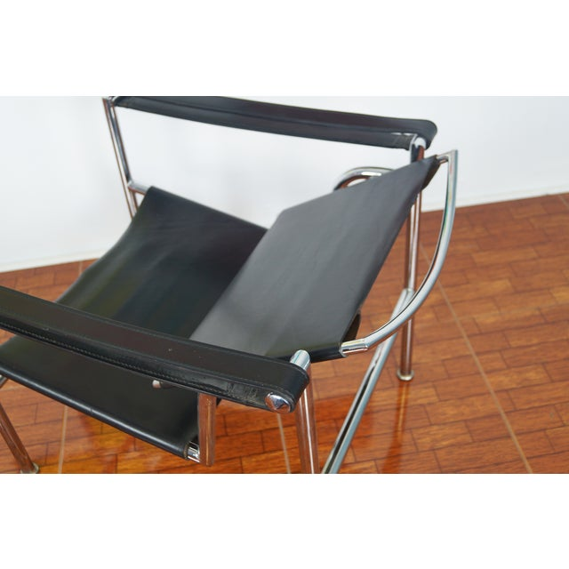 Image of Vintage Leather & Chrome Chair