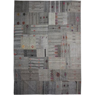 """Hand Knotted Patchwork Kilim by Aara Rugs Inc. 12'8"""" X 8'10"""""""