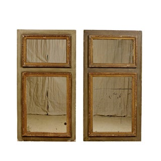 Pair of French 19th Century Trumeaux Mirrors