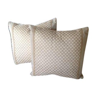 "Fortuny ""Canestrelli"" Pillow Covers - A Pair"