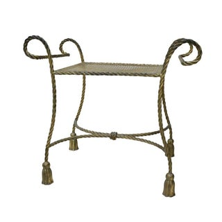 Hollywood Regency Vanity Bench