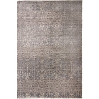 Transitional Hand-Knotted Luxury Rug - 8′ × 10′