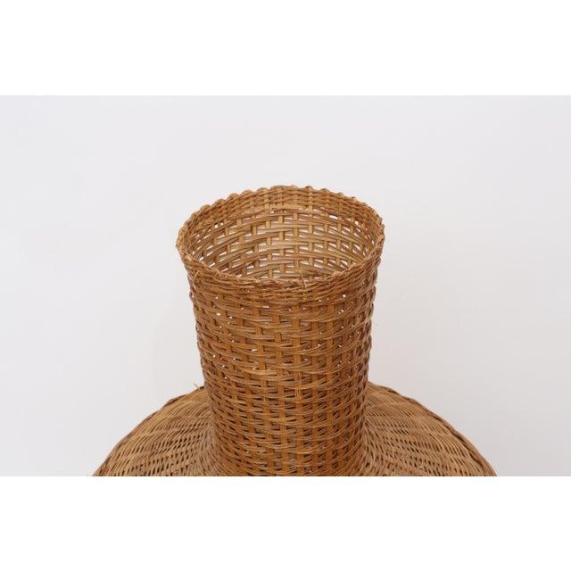 Vintage Oversized Wicker Urn or Vase - Image 6 of 8