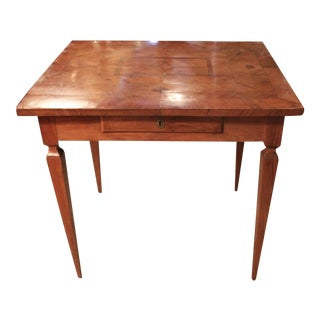 Italian Marquetry Fruitwood Card Table or Desk
