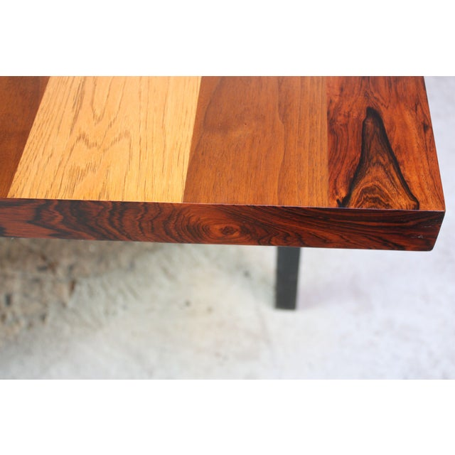 Directional Mixed-Wood Dining Table by Milo Baughman - Image 3 of 11