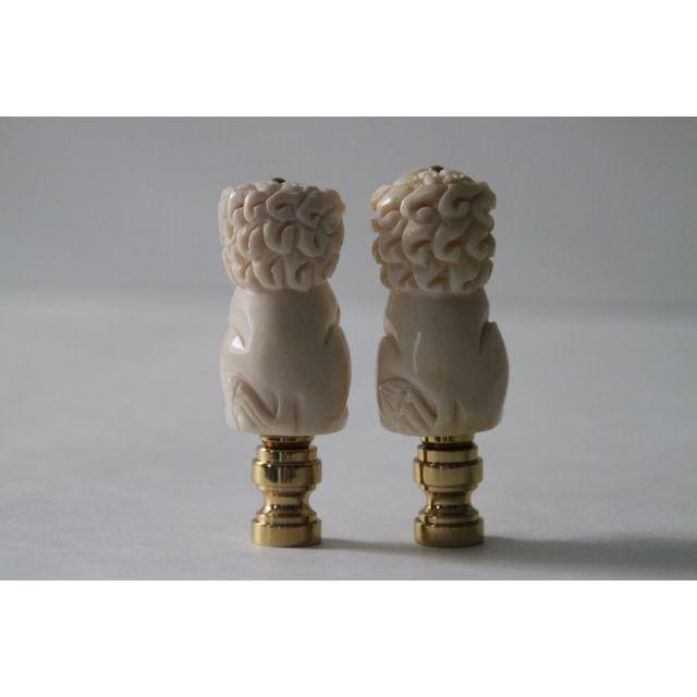 Foo Dog Lamp Finials - A Pair - Image 2 of 2