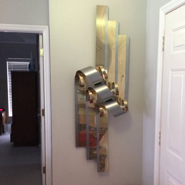 Mid-Century Two Tone Metal Ribbon Sculpture - Image 2 of 9
