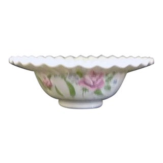 Westmoreland Milk Glass Pleated Rim Bowl