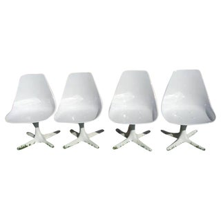 Burke Tulip Restored  Helicopter Chairs - Set of 4