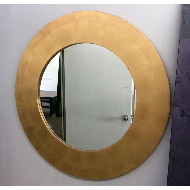 Round Gold Leaf Framed Mirror - Image 4 of 5