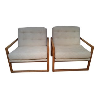 Milo Baughman for Thayer Coggin Scoop Chairs - A Pair