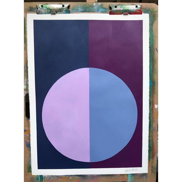 """""""Indigo & Violet Forever"""" Acrylic Painting - Image 2 of 5"""