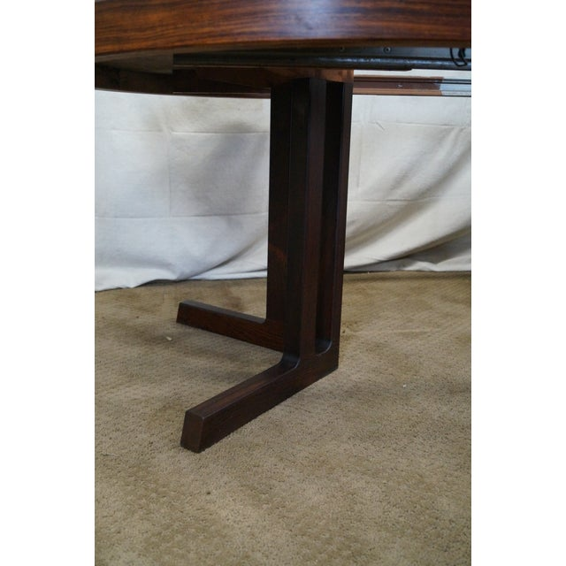Vintage Danish Modern Rosewood Round Dining Table - Image 5 of 10