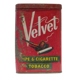 Vintage American Velvet Tobacco Tin