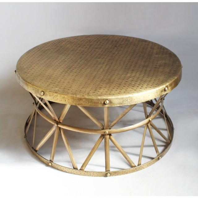 Brass Hammered Coffee Table Chairish