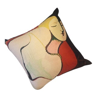 Abstract Expressionist Picasso Style Pillow