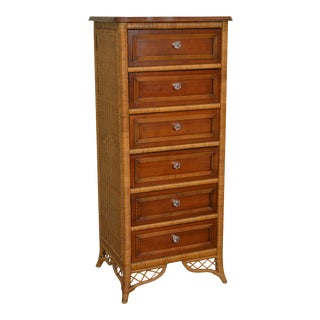 Henry Link Lexington Victorian Style Wicker & Cherry Wood Lingerie Chest