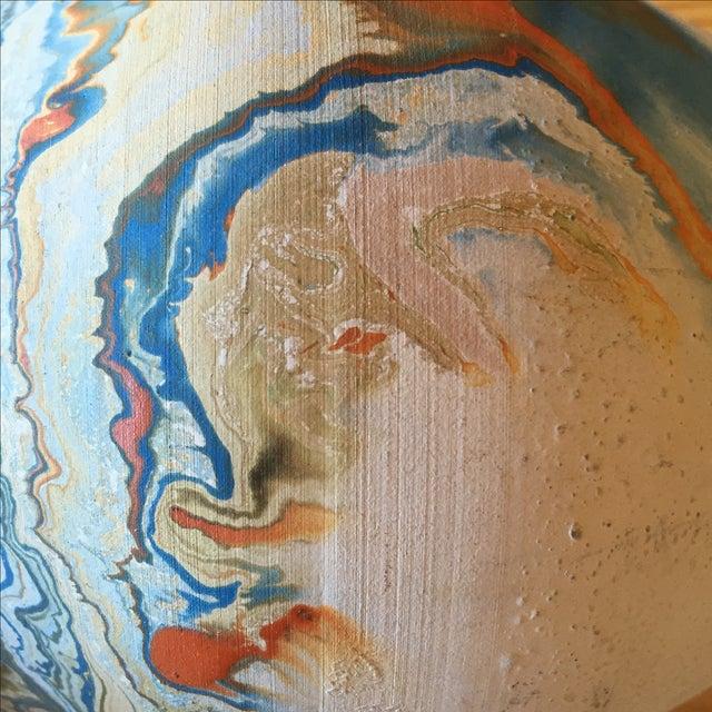 Vintage Blue and Orange Nedmadji Pottery Vase - Image 6 of 11
