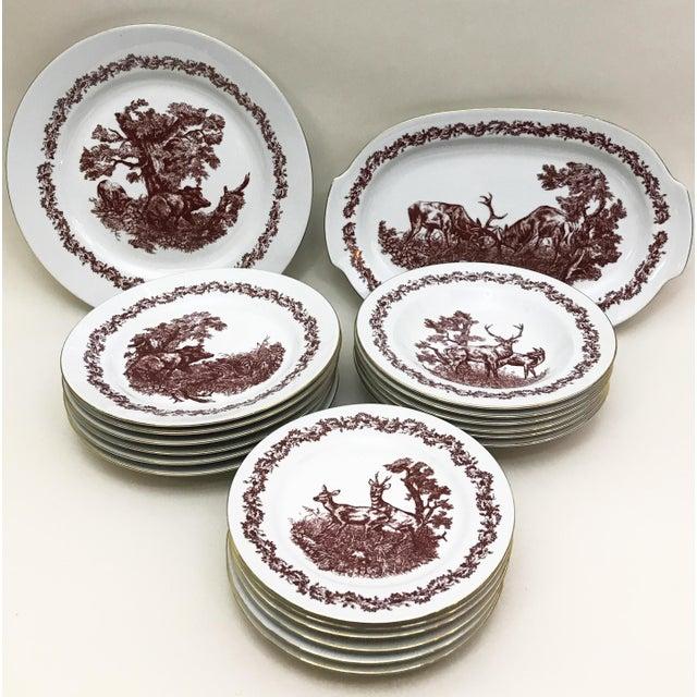 Black Forrest Theme Jlmenau Graf Von Henneberg Dinnerware - 22 Pieces - Image 2 of 11