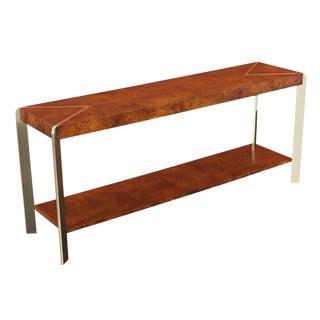 Vintage Burl Wood Console Table