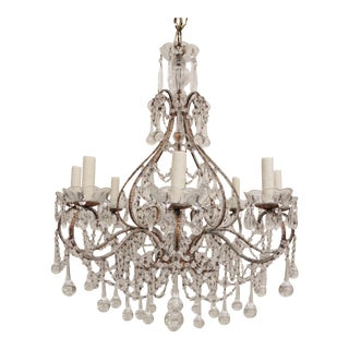 Crystal Beaded Italian Chandelier