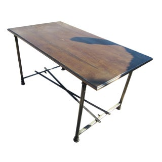 Wood & Steel Industrial Age Table Desk