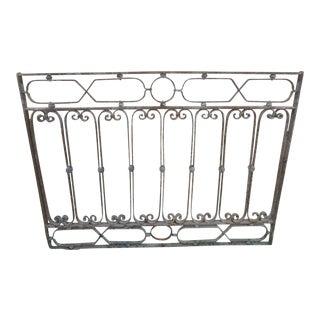 Antique Victorian Iron Gate Window Garden Fence Architectural Salvage Door #126