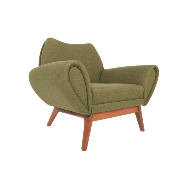 Johannes Andersen Lounge Chair in Olive - Image 2 of 11