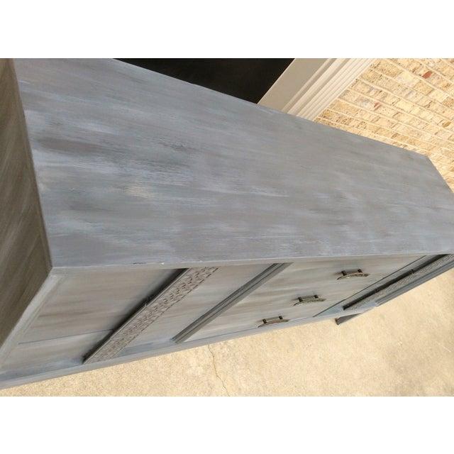 Vintage Distressed Gray Triple Dresser - Image 6 of 6