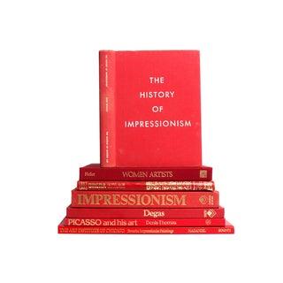 Selected Red Art & Artist Books - S/7
