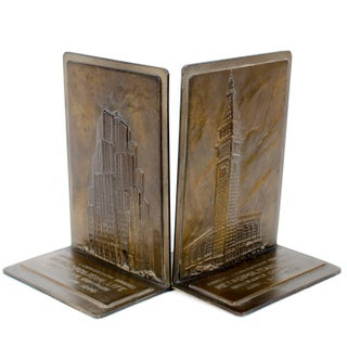 1940 Met Life New York City Bookends - A Pair