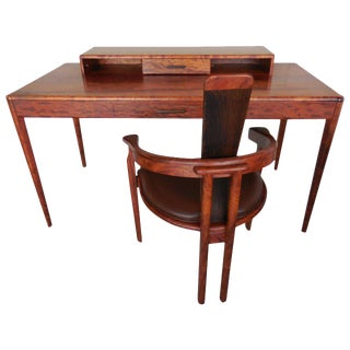 Bubinga Wood Desk and Chair by Alan Rosen