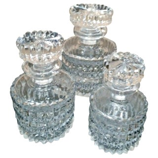 Small Crystal Decanters - Set of 3