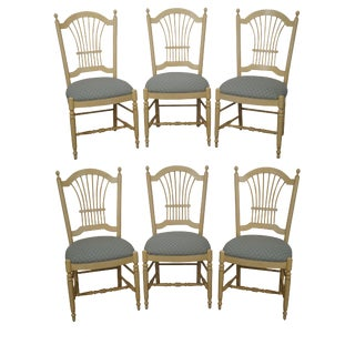Ethan Allen Country French Dining Chairs - Set of 6
