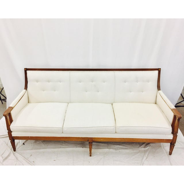 Vintage Mid-Century Tufted Button Back Sofa - Image 6 of 7