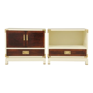 Campaign Style End Tables - A Pair