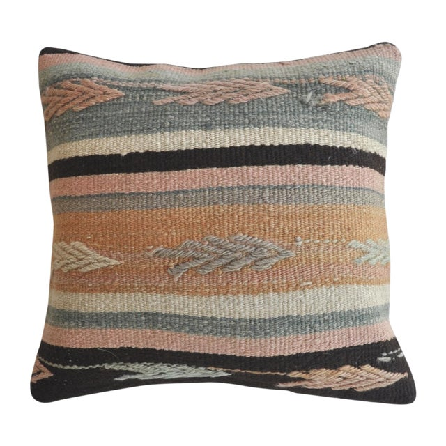 Cactus Flower Vintage Kilim Pillow Cover - Image 1 of 3