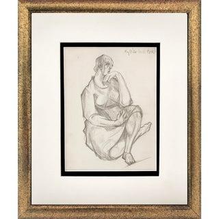 Vintage Modernist Drawing Harold Davies 1937 Two Drawings