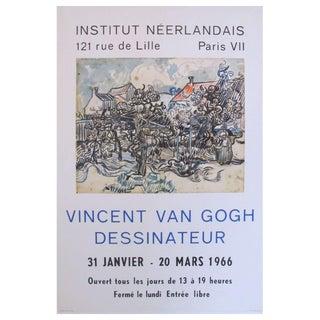 Original 1966 Van Gogh Exhibition Poster